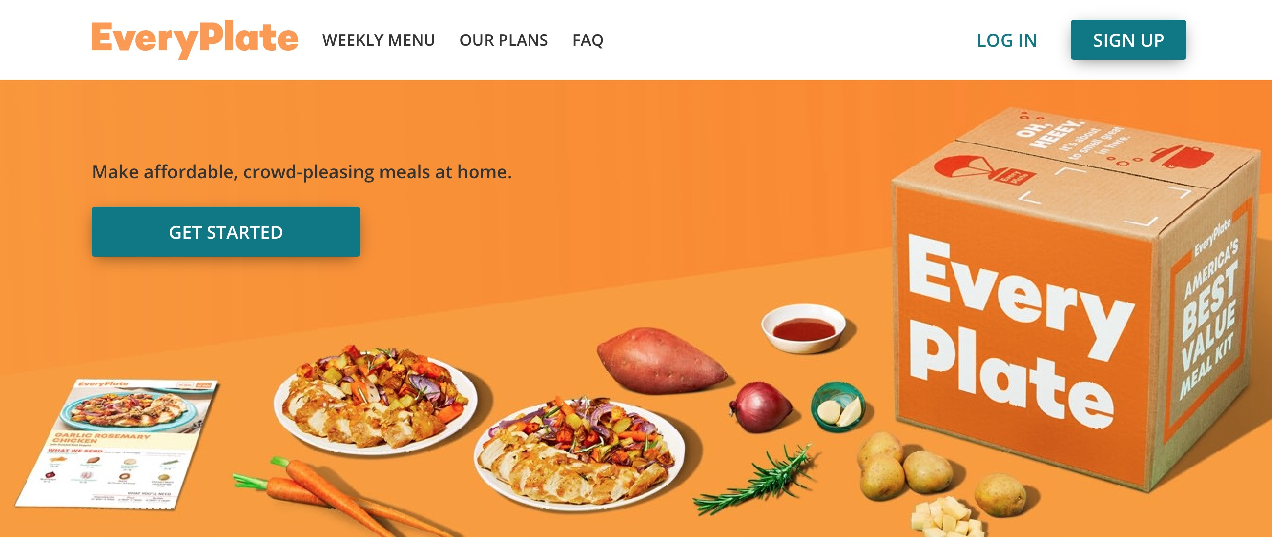 EveryPlate home page