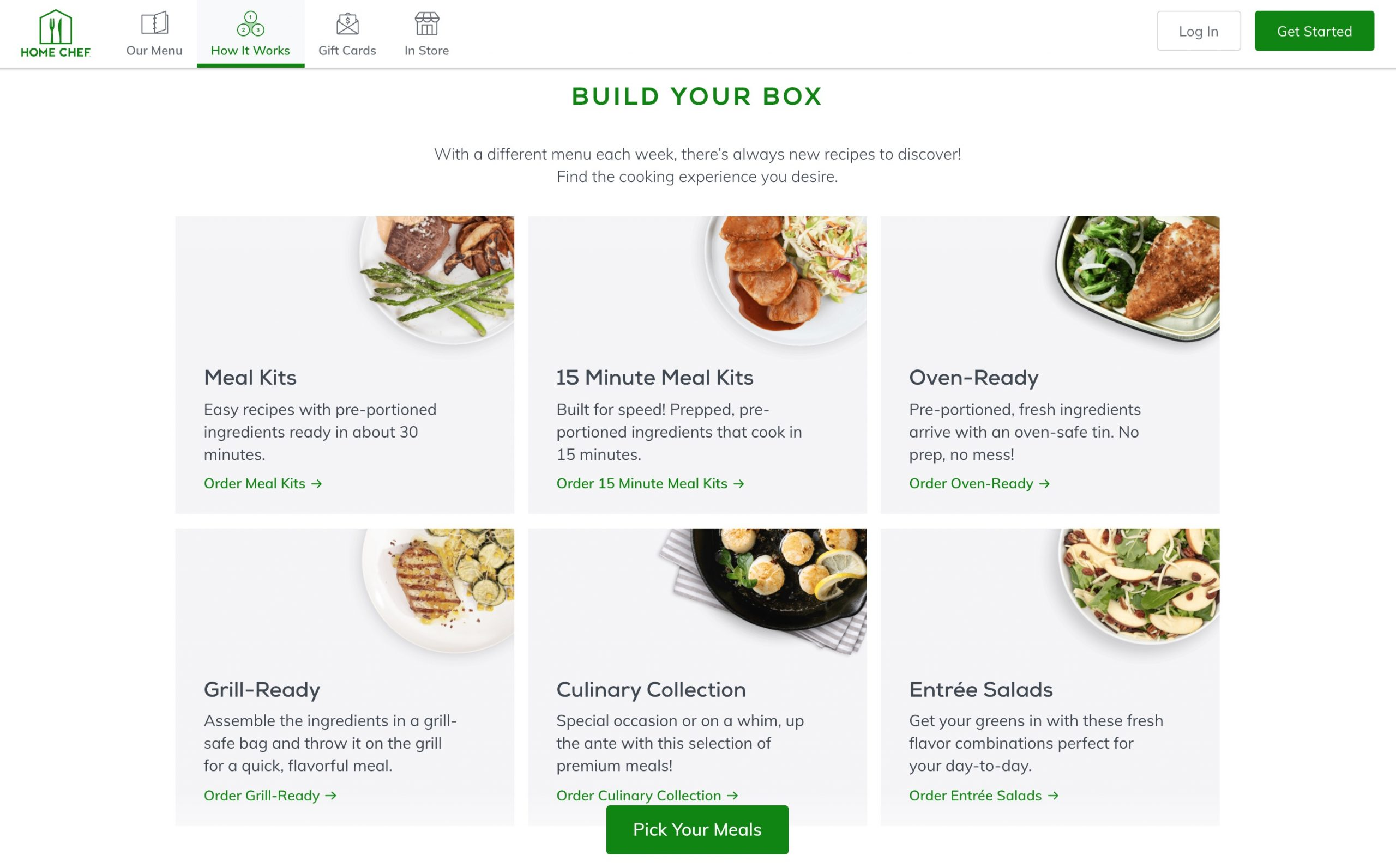 Home Chef build your box