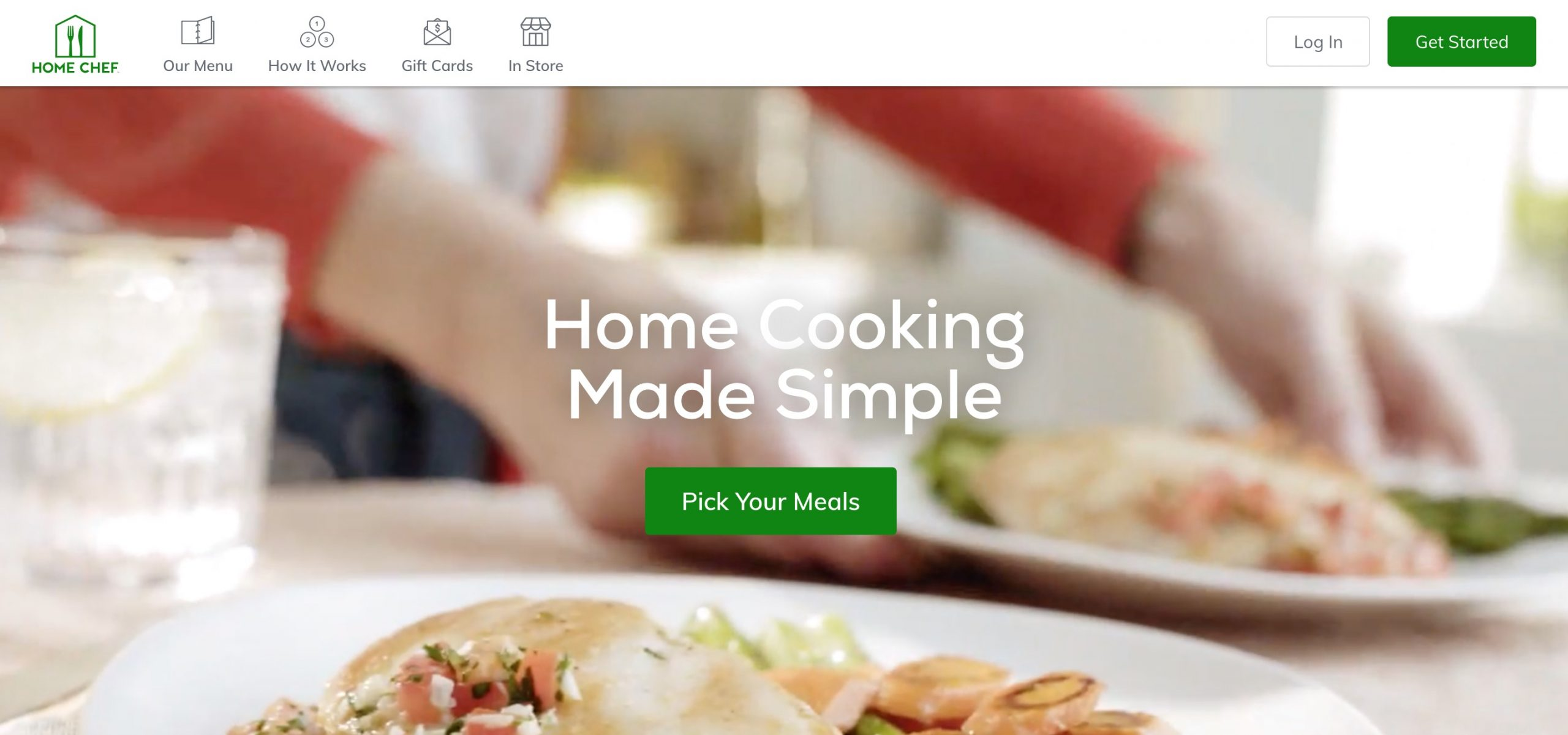 Home Chef main page
