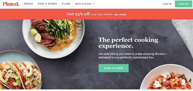 Plated main page
