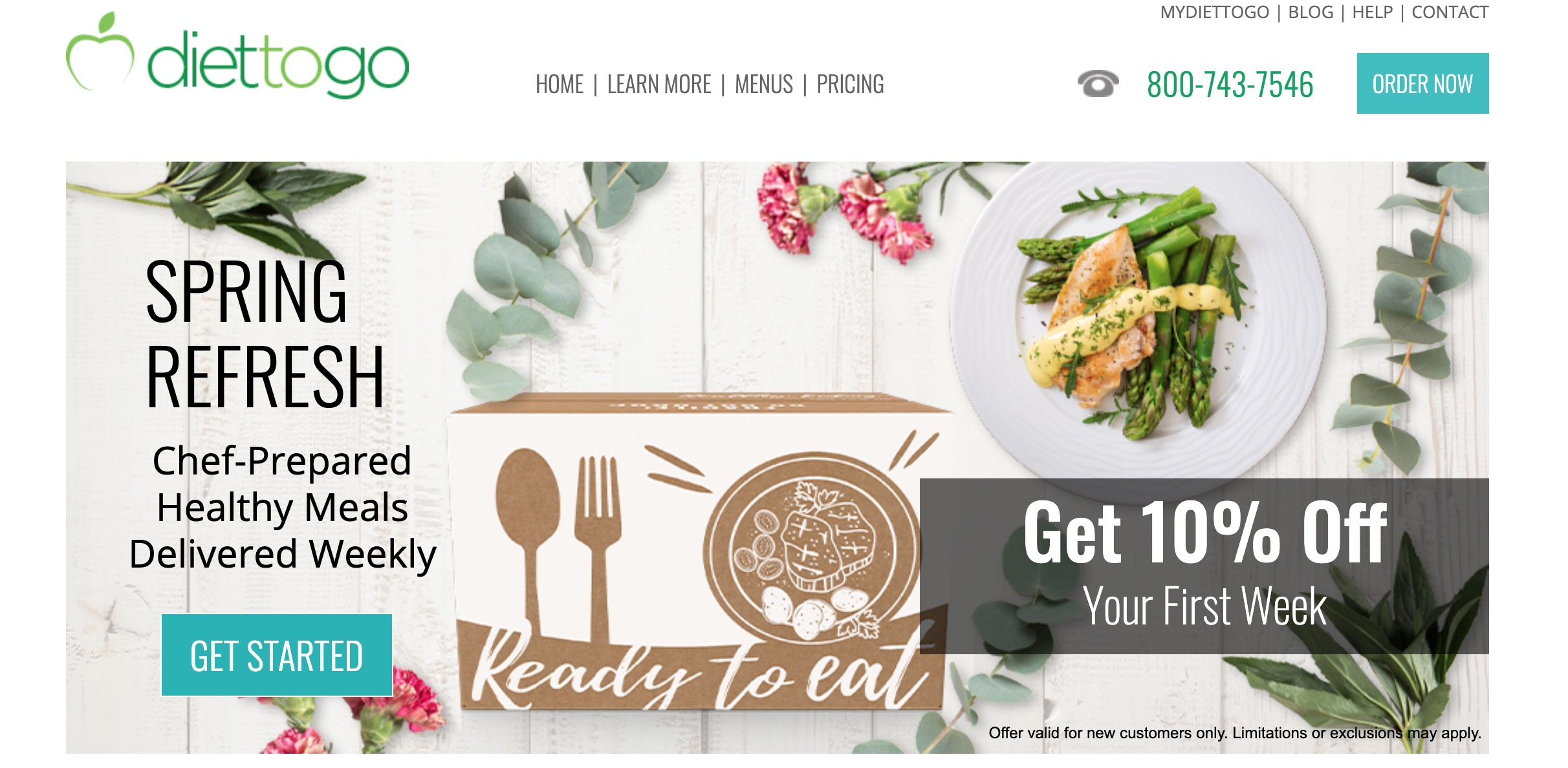 Diet-to-Go main page
