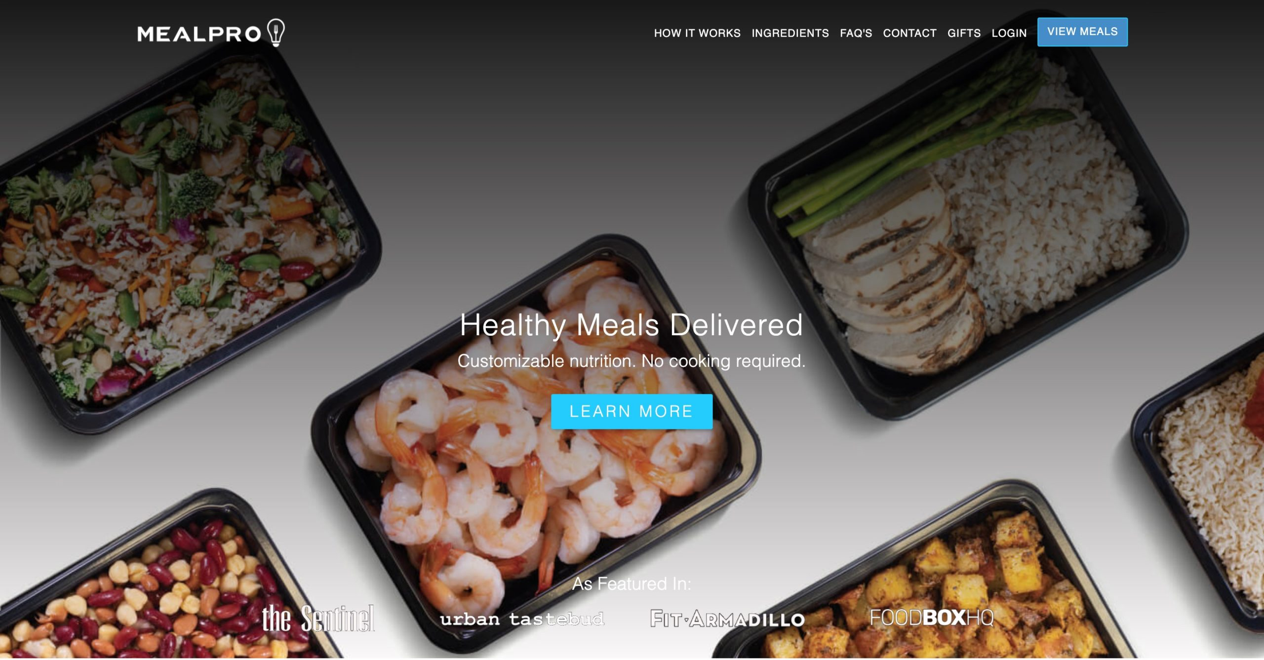 MealPro main page