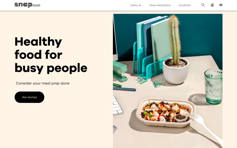 Snap Kitchen main page