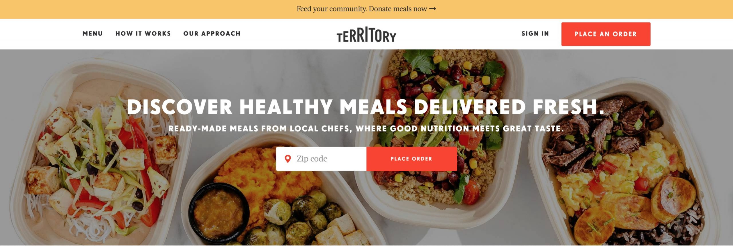 Territory Foods main page
