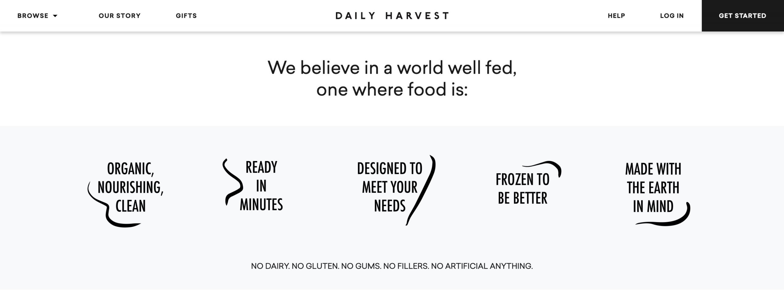 Daily Harvest features
