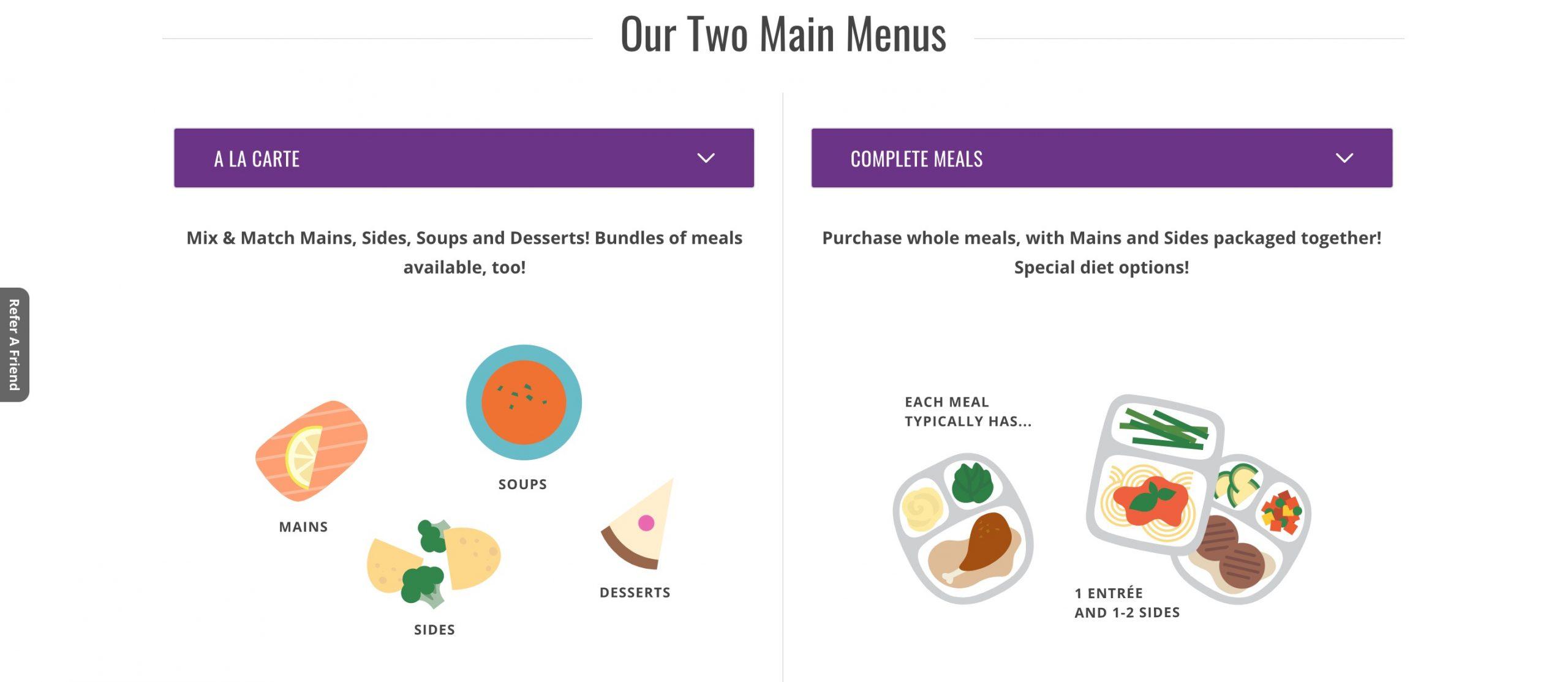 Magic Kitchen menus