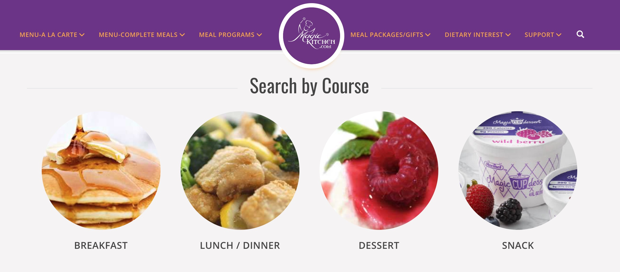 Magic Kitchen search by course