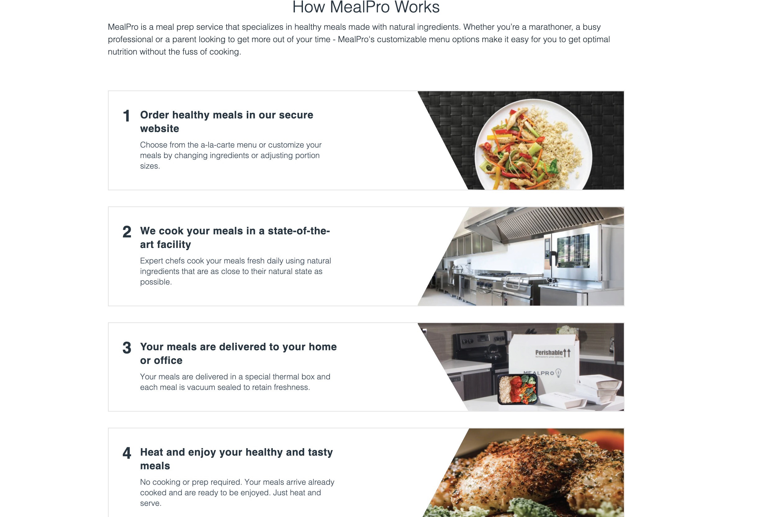 MealPro how it works