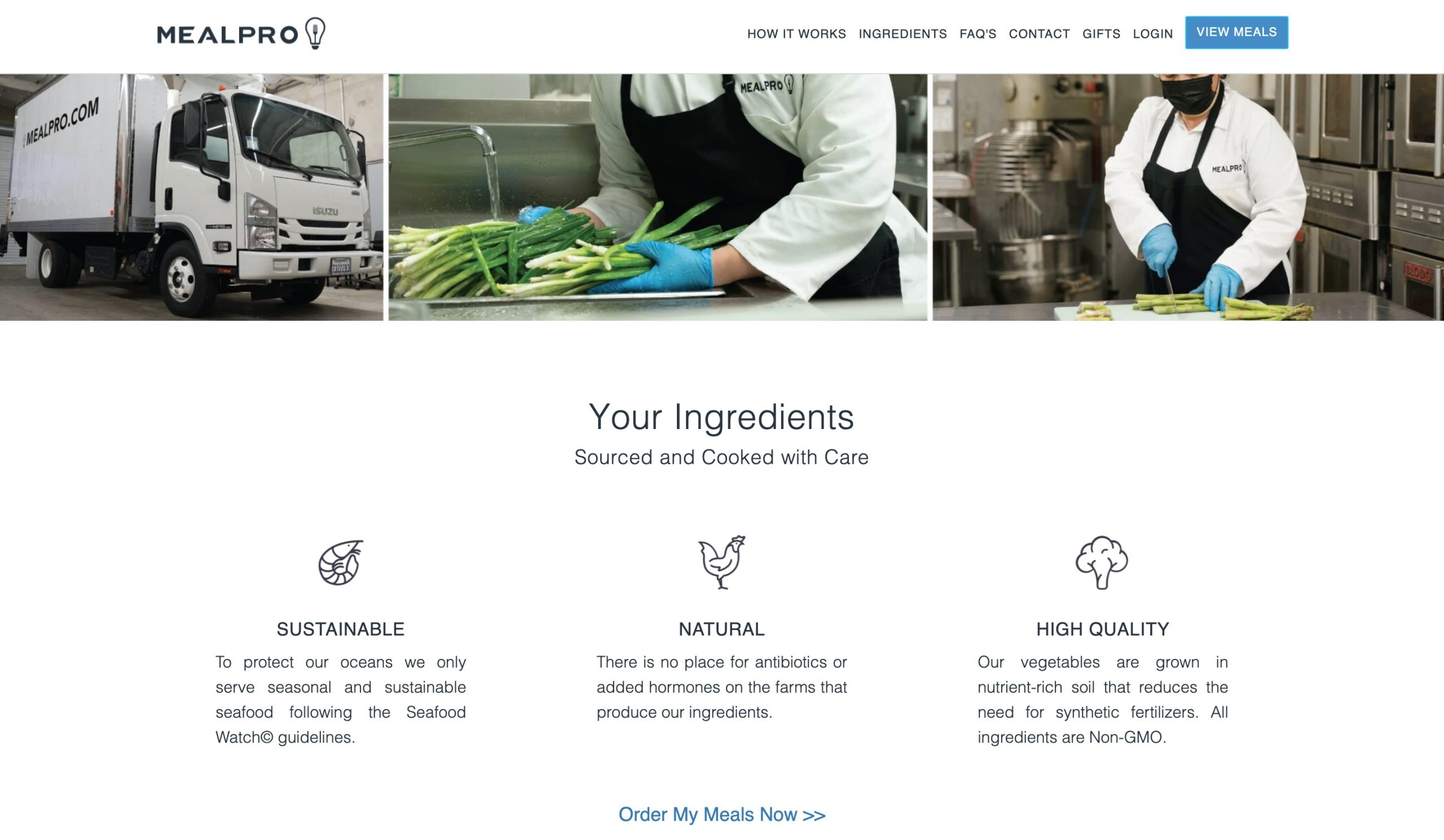 MealPro ingredients
