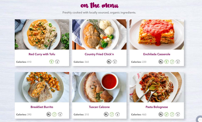 Veestro menu