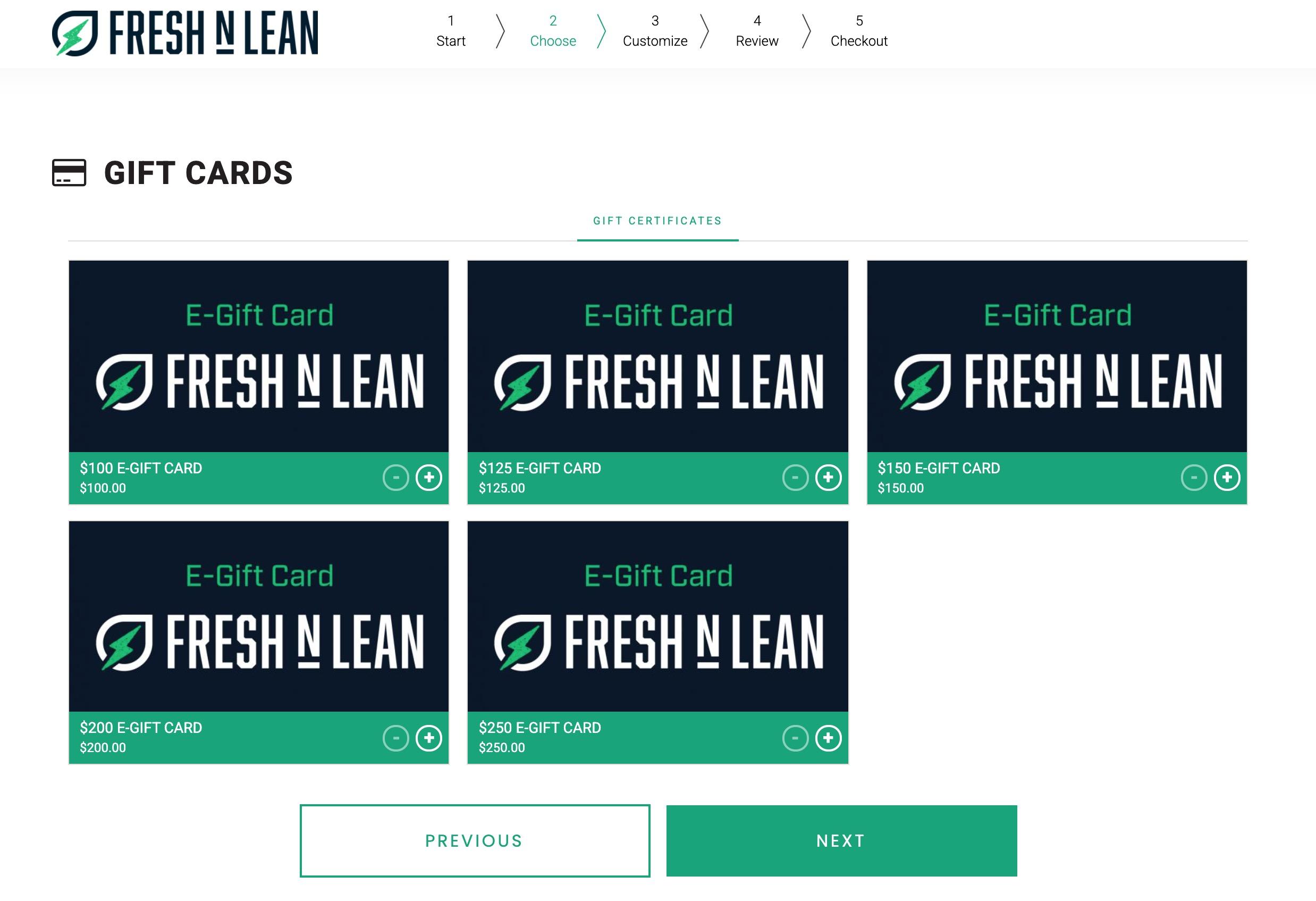 fresh n lean gift card