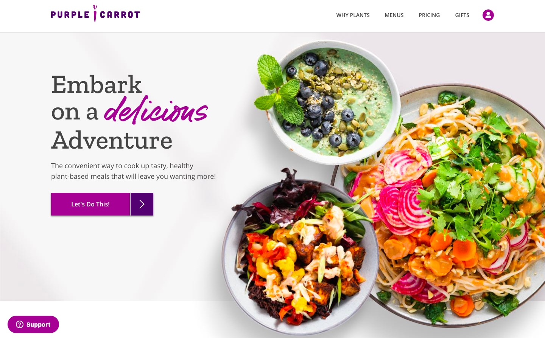purple carrot main page