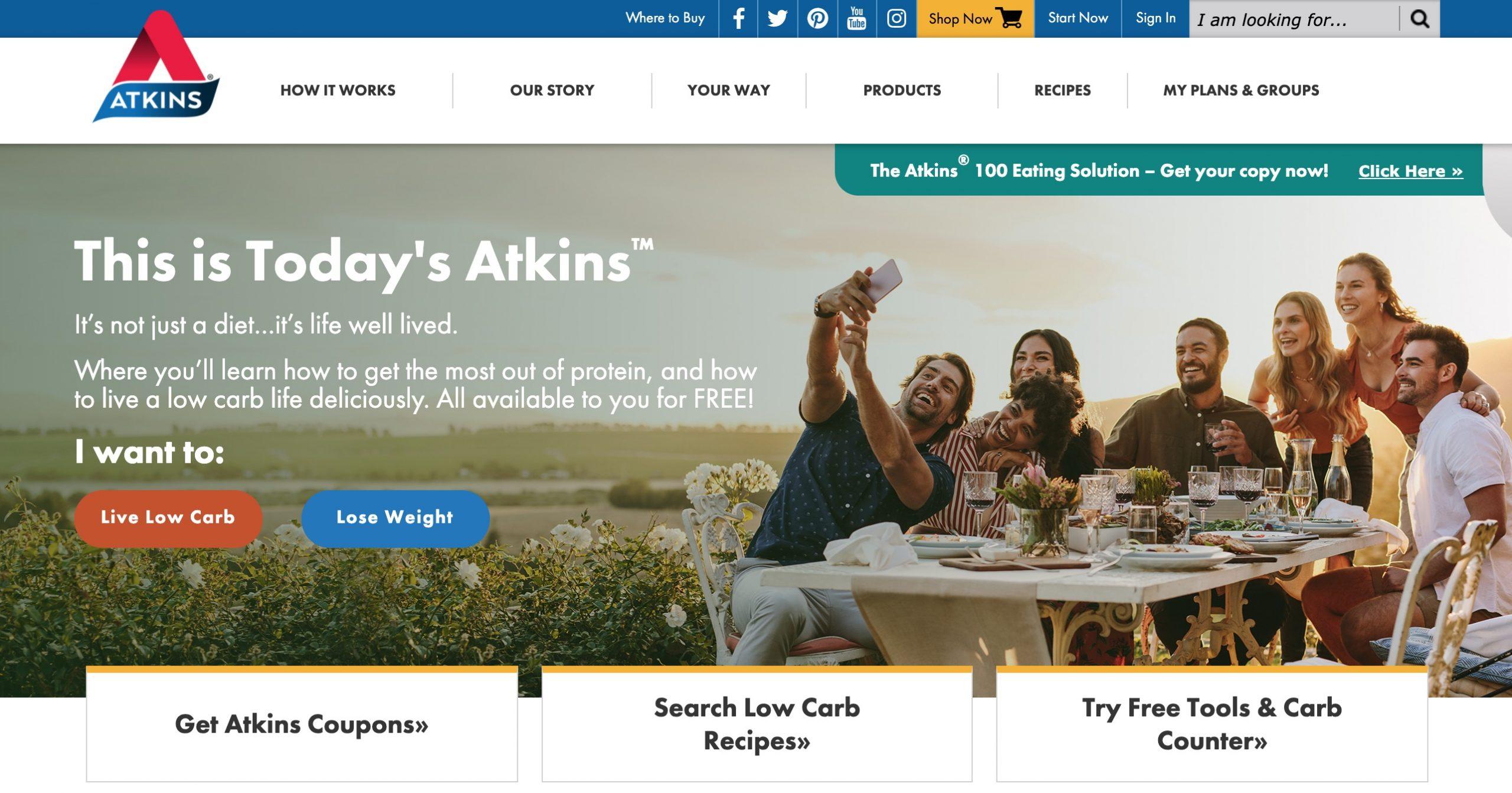 Atkins main page