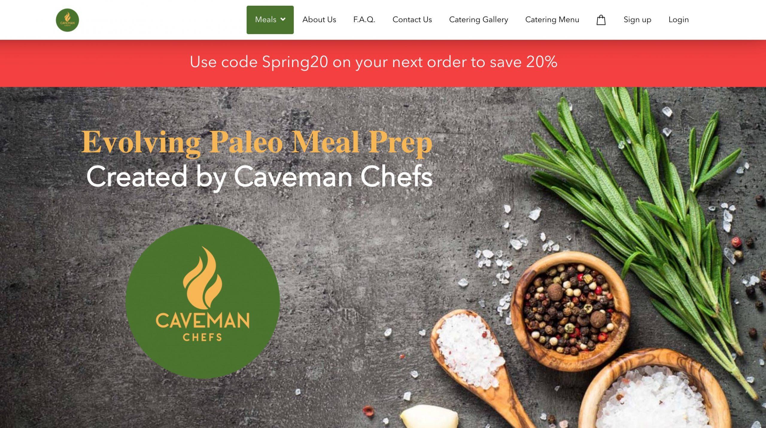 Caveman Chefs main page