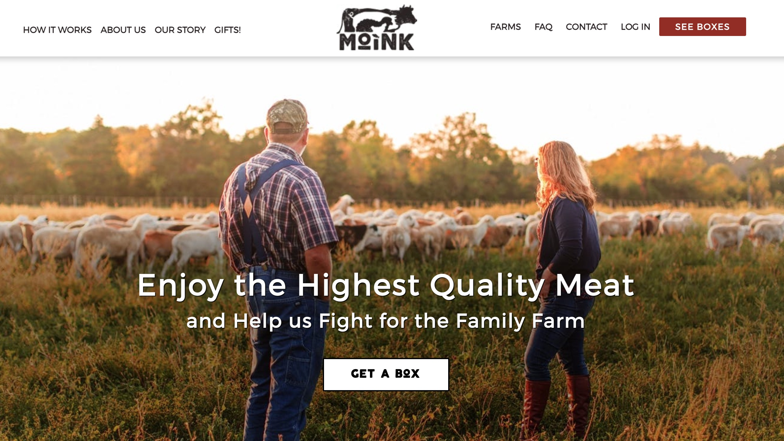 Moink main page