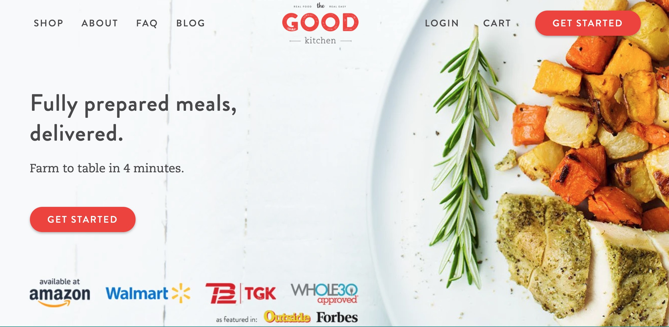 The Good Kitchen main page