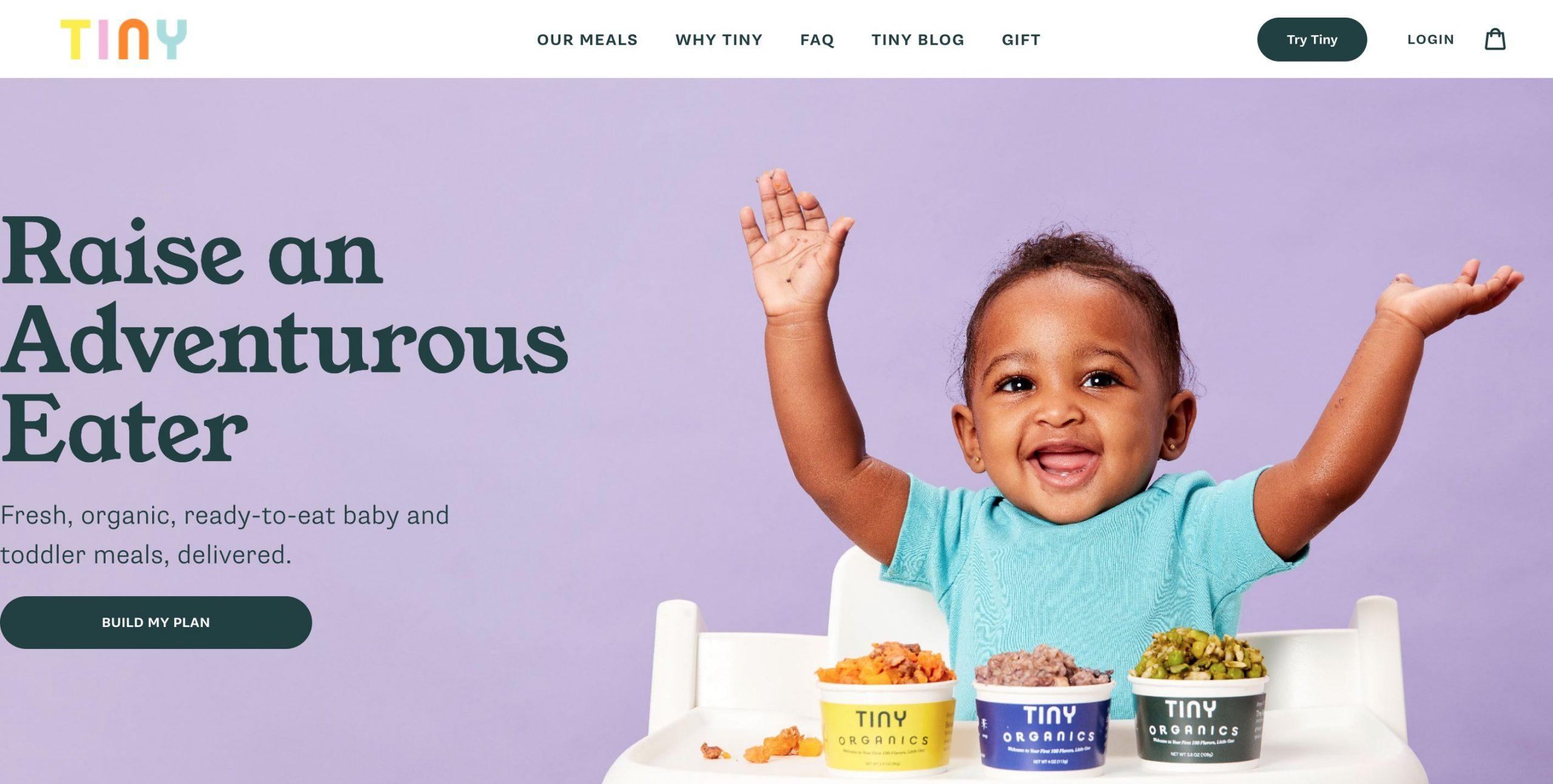 Tiny Organics main page