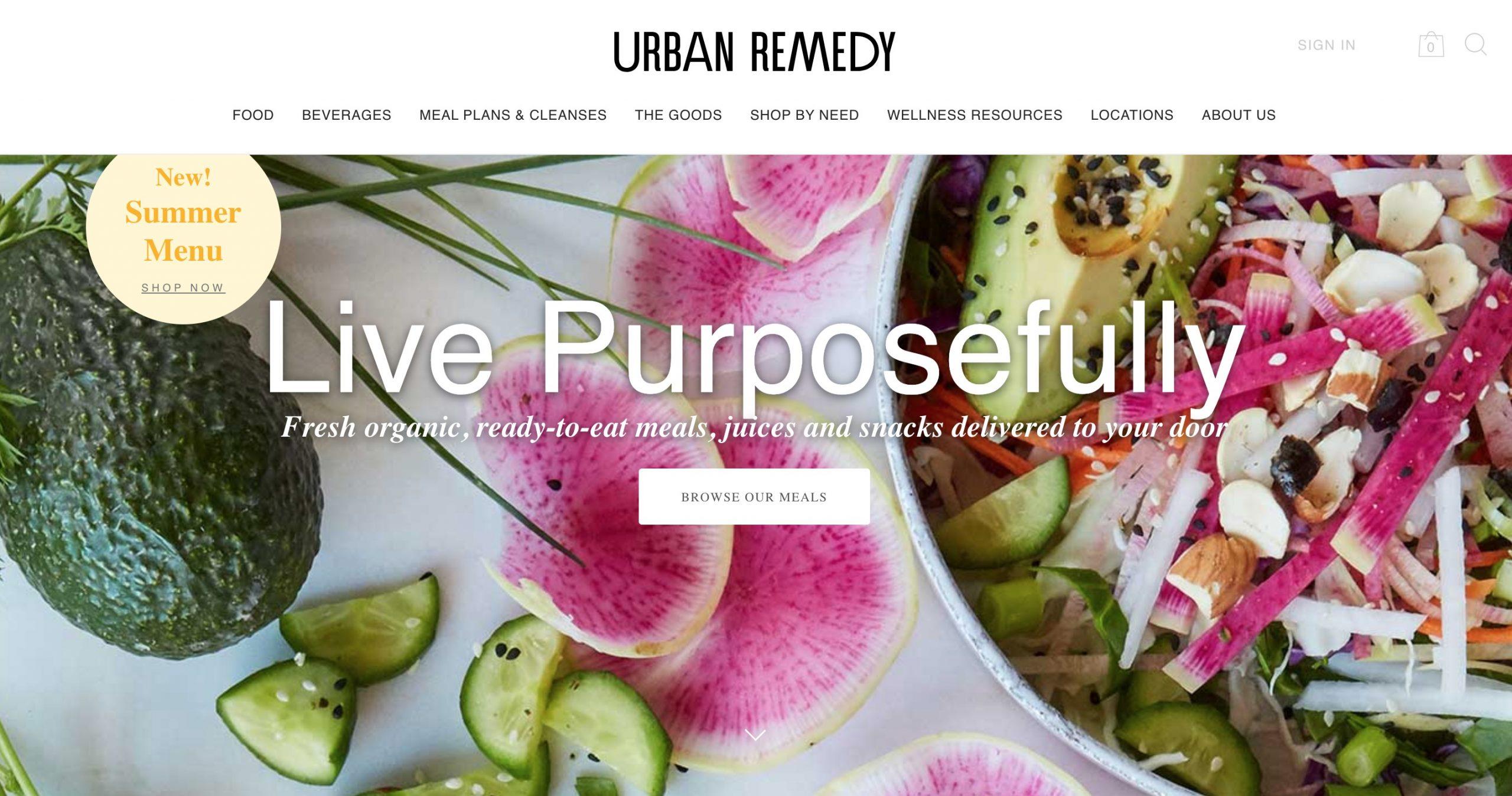 Urban Remedy main page