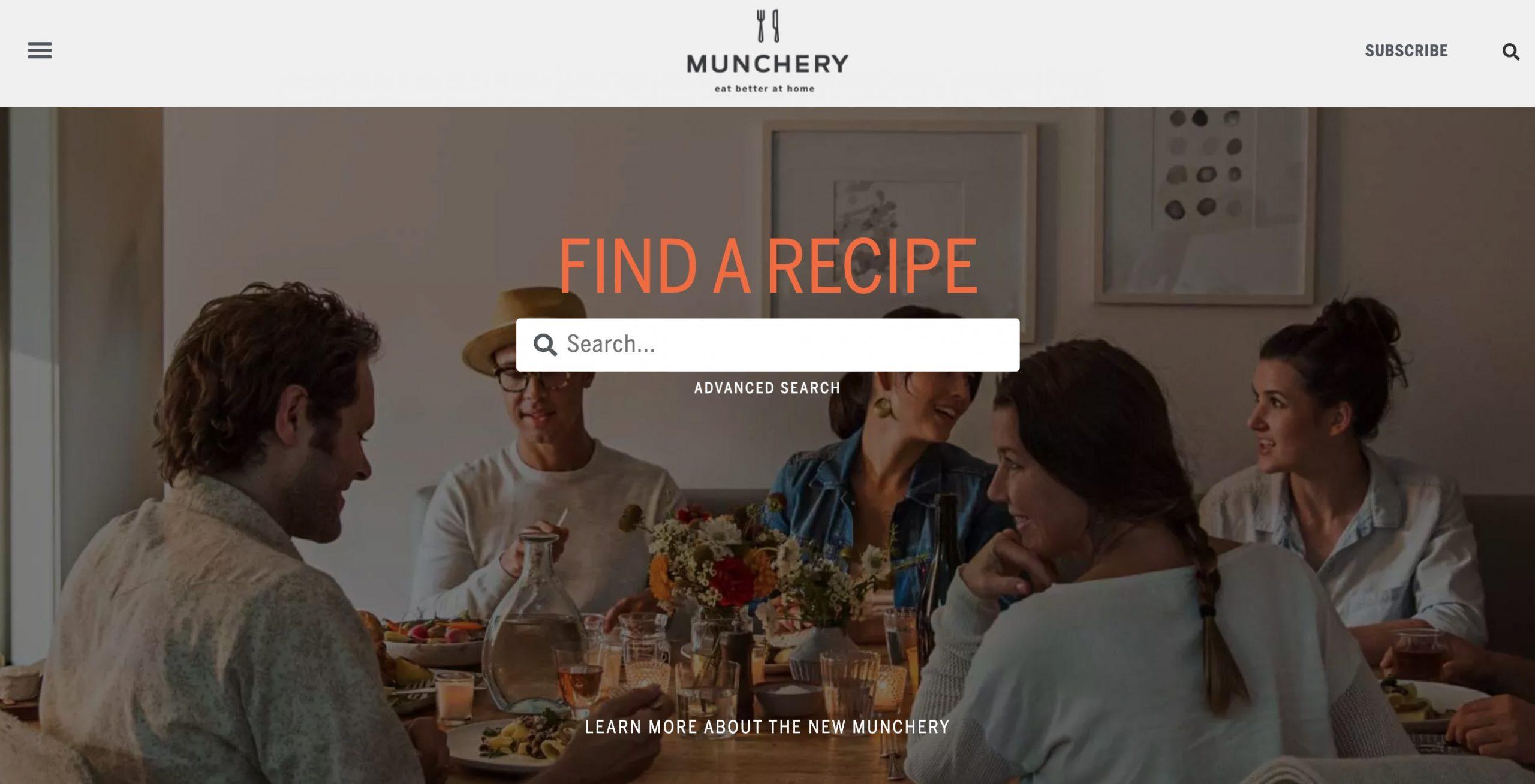 munchery main page