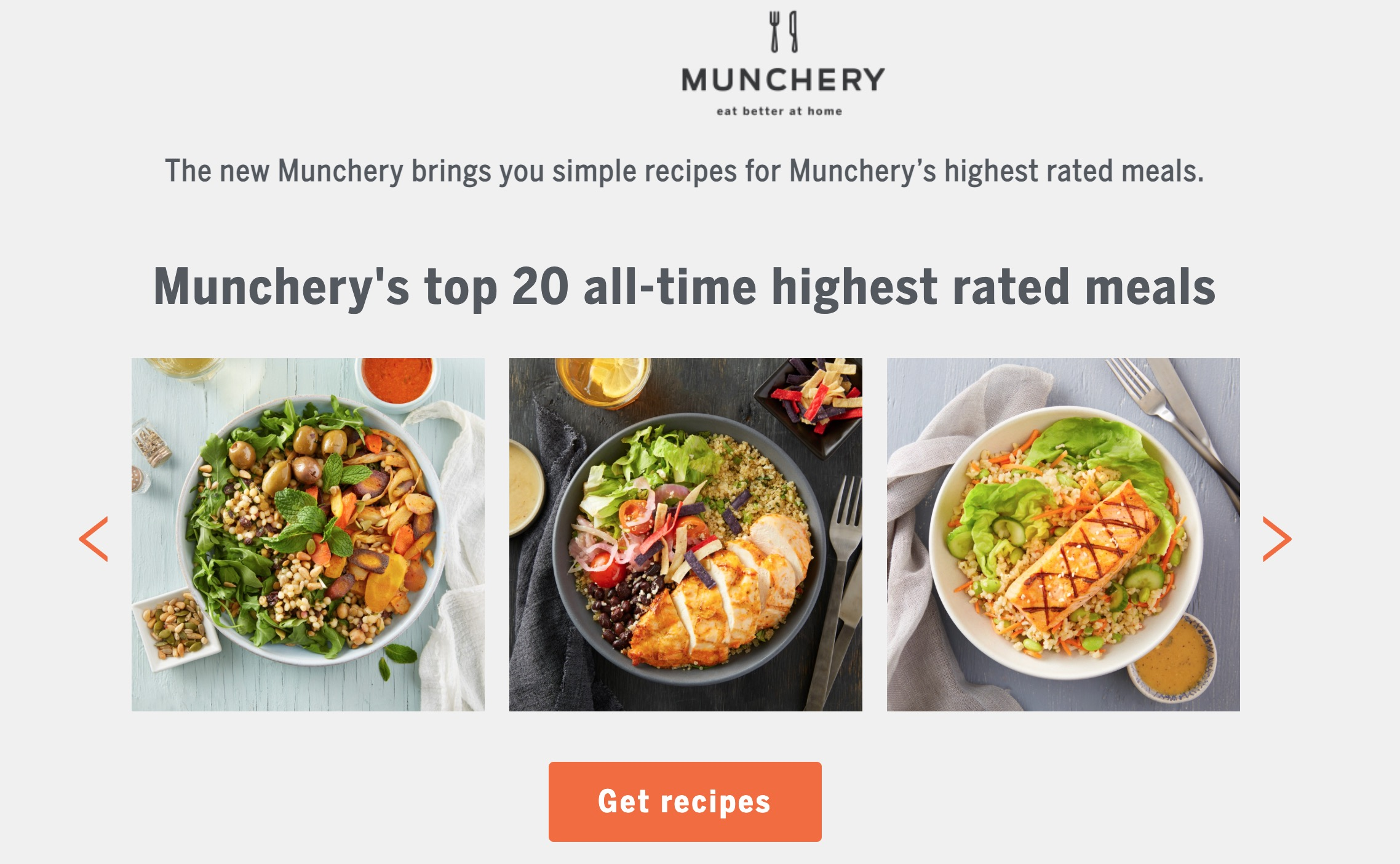 munchery top 20 recipes